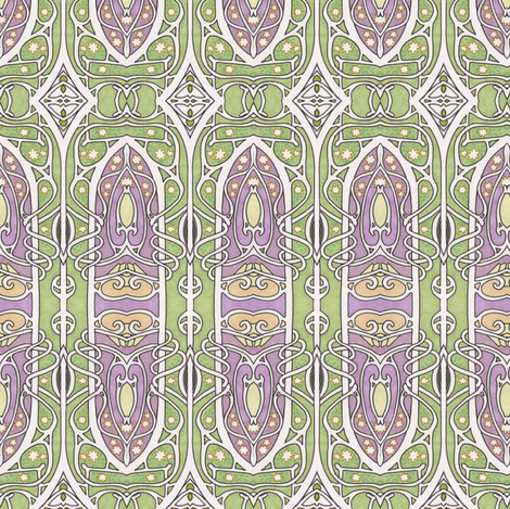 Nouveau Gothique fabric by edsel2084 on Spoonflower - custom fabric