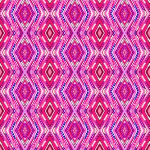 Tribal Diamonds - Pink
