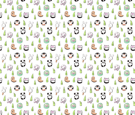 sushiland fabric by zandloopster on Spoonflower - custom fabric