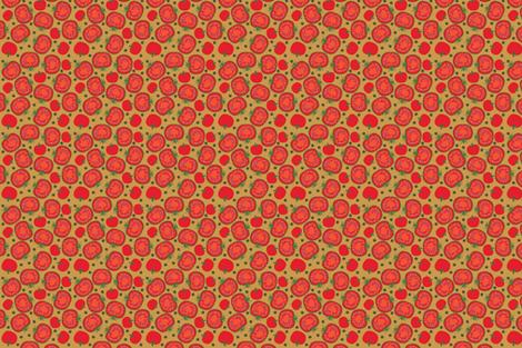 Tomatoes fabric by marcinwaska on Spoonflower - custom fabric