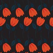 SummerGarden-FloralStems-black