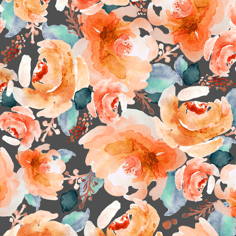 Indy_Bloom_Design_Orange_Autumn B fabric by indybloomdesign on Spoonflower - custom fabric