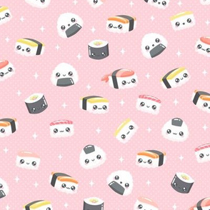 Happy Little Sushi on Pink