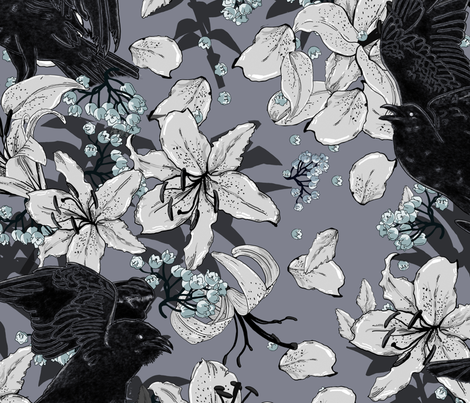 It' s Your Funeral fabric by tracy_dixon on Spoonflower - custom fabric