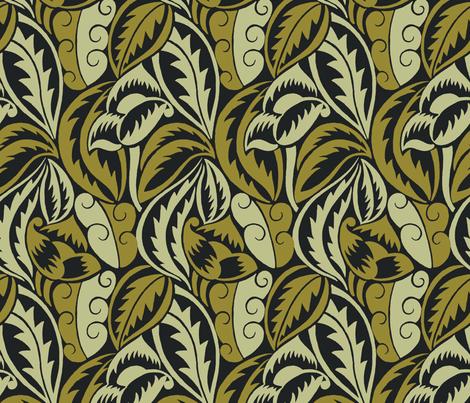 Grands Feuillages Redux 1d fabric by muhlenkott on Spoonflower - custom fabric