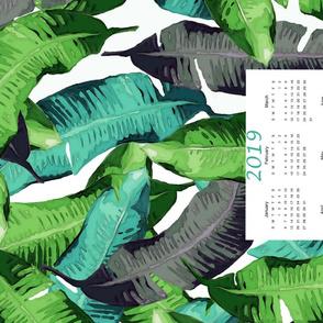2019 Banana Leaf Calendar