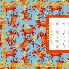 Crabs Calendar 2019