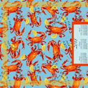 Crabs Calendar 2018