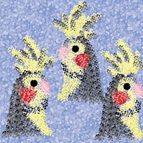 Cockatiels - Pointillism