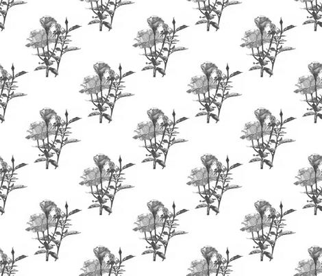 Pointillism_Rose_pattern_v2-3v4 fabric by llanyia on Spoonflower - custom fabric