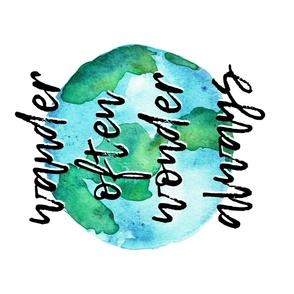 wander often wonder always (1 Yard)- world typography blanket