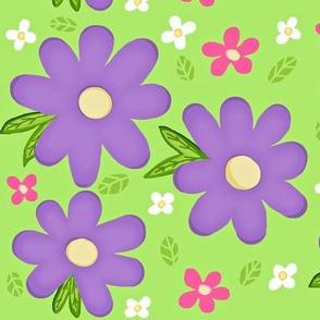 Bee-u-tiful bees purple flowers