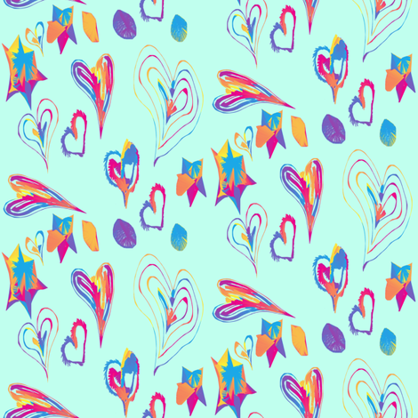 DoodleLoveOnC0FFEE fabric by grannynan on Spoonflower - custom fabric