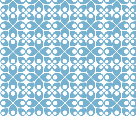 Swedish Modern blue fabric by vo_aka_virginiao on Spoonflower - custom fabric
