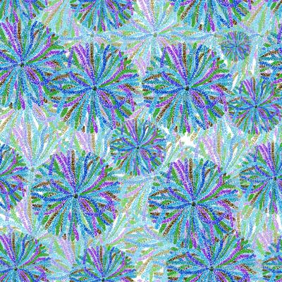 purple pointillism