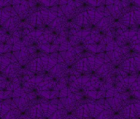Gothic Purple Webs fabric by thewellingtonboot on Spoonflower - custom fabric