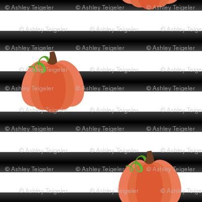 Mod Pumpkin Stripes