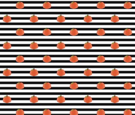 Mod Pumpkin Stripes fabric by bbthreads on Spoonflower - custom fabric
