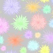 Hawaiian Tide Pool-Urchins Rainbow/Light Gray