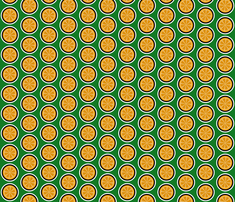 Orange Slice fabric by red_wolf on Spoonflower - custom fabric