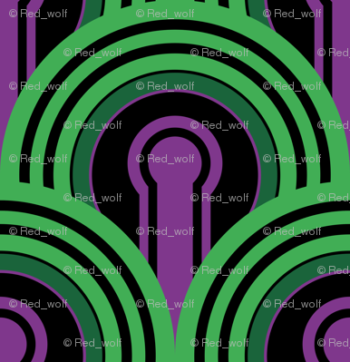 Overlook Hotel Carpet from The Shining: Purple/Green