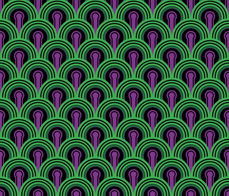 Overlook Hotel Carpet from The Shining: Purple/Green fabric by red_wolf on Spoonflower - custom fabric