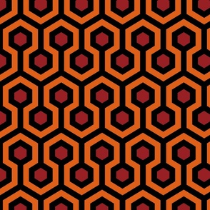 Overlook Hotel Carpet from The Shining: Orange/Red