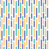 blue, orange and green stripes pattern
