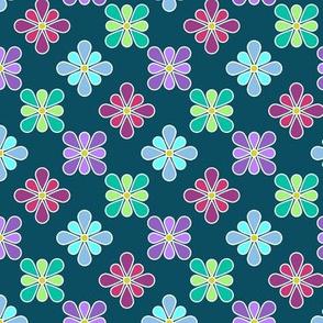 Pastel Multi Flower Pattern