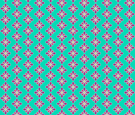 Pastel Red Flower fabric by red_wolf on Spoonflower - custom fabric