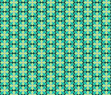 Pastel Green Flower fabric by red_wolf on Spoonflower - custom fabric