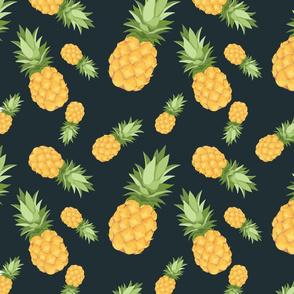 Pineapple pattern  - Dark background