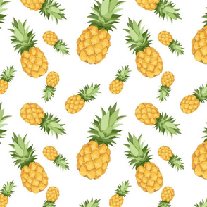 Pineapple pattern - white background