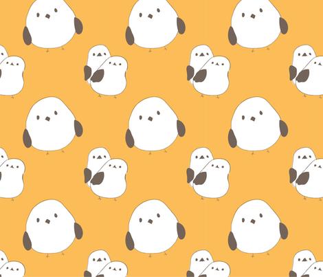 Birdy pattern fabric by elfi_yang on Spoonflower - custom fabric