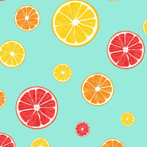 Citrus fruits pattern