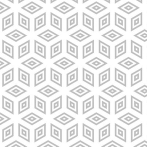 Geometric Pattern: Simple Nested Cubes: Grey