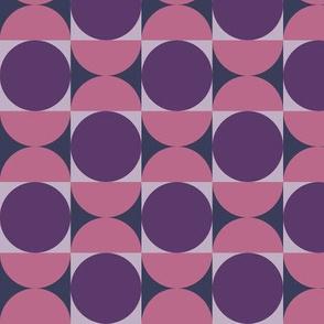 Geometric Pattern: Circle: Pink/Purple