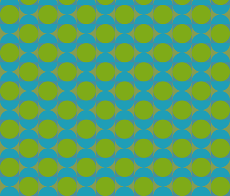 Geometric Pattern: Circle: Blue/Green fabric by red_wolf on Spoonflower - custom fabric