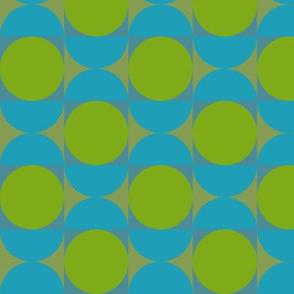 Geometric Pattern: Circle: Blue/Green