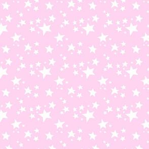 Scattered Doodle Stars on Pink