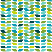 Geometric Pattern: Leaf: Spring