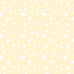 Scattered Doodle Stars on Cream