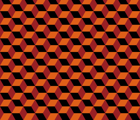 Geometric Pattern: 3D Cube: Red/Orange wallpaper - red_wolf