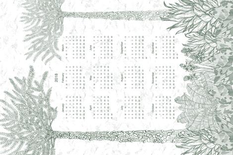 2018 Calendar  fabric by alexandradyer on Spoonflower - custom fabric