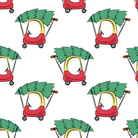 kids car with Christmas tree fabric by littlearrowdesign on Spoonflower - custom fabric