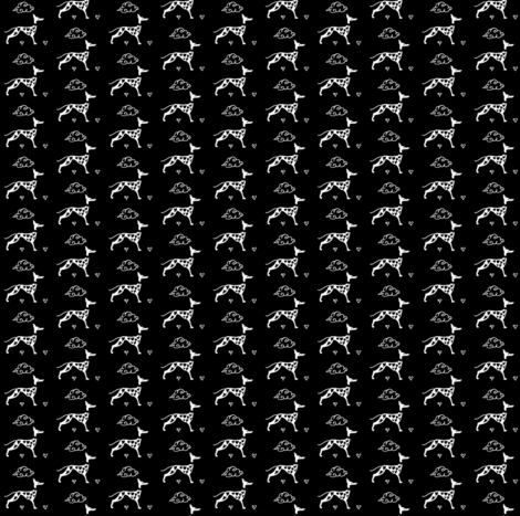 HoundOfLoveShowStack_WhiteOnBlack fabric by cloudsong_art on Spoonflower - custom fabric