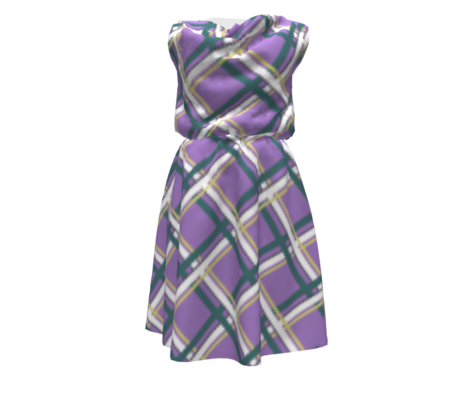 Plaid-Normous - Purple