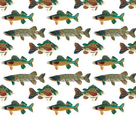 Lake Fish fabric by hannah_beisang on Spoonflower - custom fabric