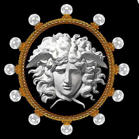 3b05de67f7 pearls gold medallions frames borders baroque rococo Versace inspired  medusa inspired gorgons Greek Greece Mythology monsters