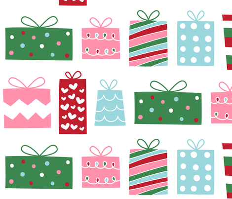christmas presents LG fabric by misstiina on Spoonflower - custom fabric